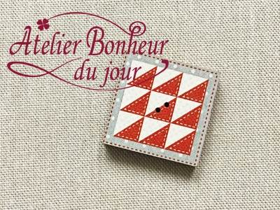 Bouton bois peint mini patch triangle