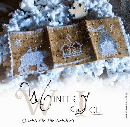 WINTER ICE QUEEN OF THE NEEDLE NEEDLEBOOK - Primitive Hare