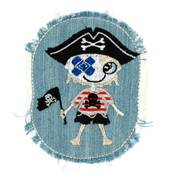 Patch pirate jeans 10x8cm