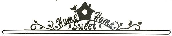 Support mural Home Sweet Home