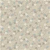 Tissu Serenity Flower Scroll Cream - 1694Q